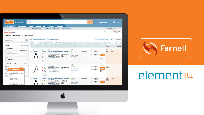 Customers can now access LINIAN products online through Farnell element14