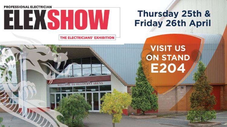 We'd love to see you at the next Professional Electrician Elexshow in Exeter on the 25th and 26th April